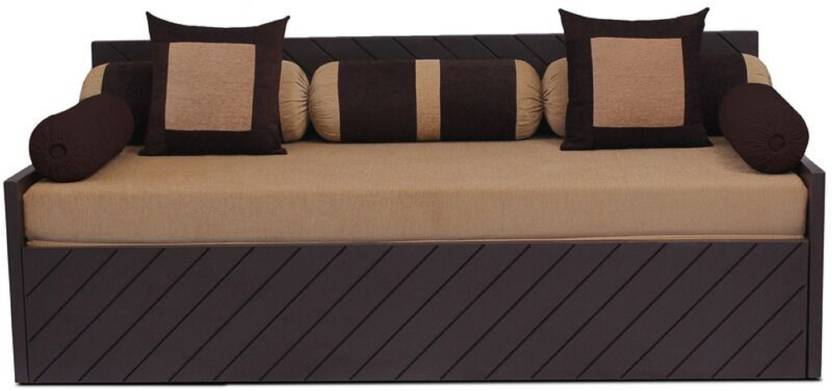 Auious Home Kaiden 2 Pillows 5 Bolsters Double Fabric Sofa Bed