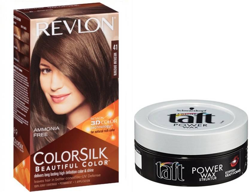 Revlon Medium Brown Hair Colour With Schwarzkopf Taft Wax Price In