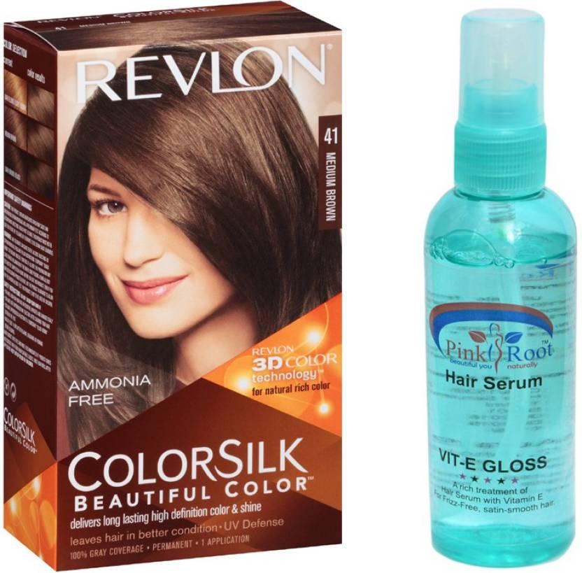 Revlon Medium Brown Hair Colour With Pink Root Hair Serum Price In