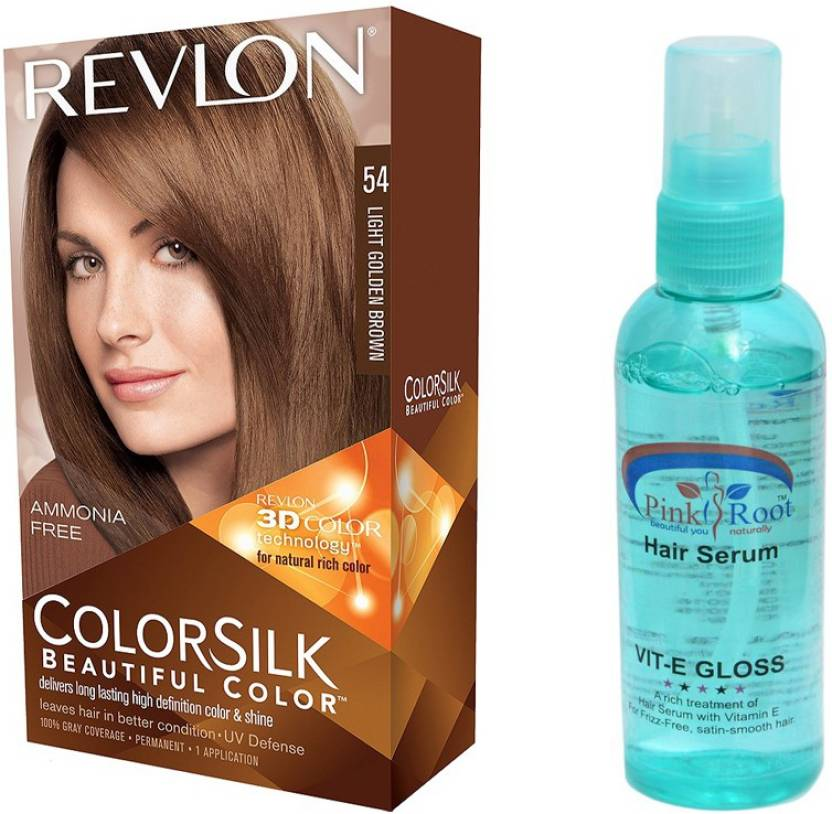 Revlon Light Golden Brown Hair Colour With Pink Root Hair Serum