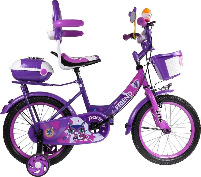 f79be9c8ae5 HLX-NMC KIDS BICYCLE PURPLE DARK PINK 16 T Recreation Cycle (Single Speed