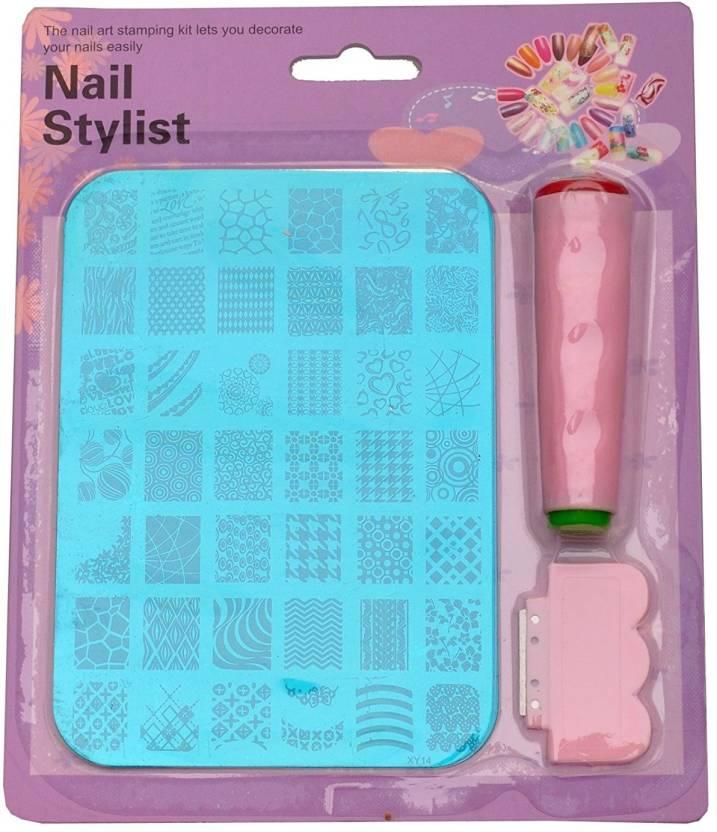 Royalkart Nail Art Stamping Kit Decoration Jumbo Image Plate Gift