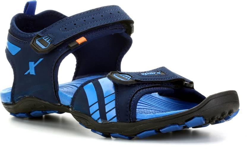 bd57097f81c Sparx Men Navy Blue Royal Blue Sports Sandals - Buy Sparx Men Navy Blue  Royal Blue Sports Sandals Online at Best Price - Shop Online for Footwears  in India ...