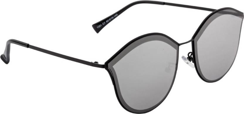 e27141ac7dd Buy Farenheit Round Sunglasses Silver For Women Online   Best Prices ...
