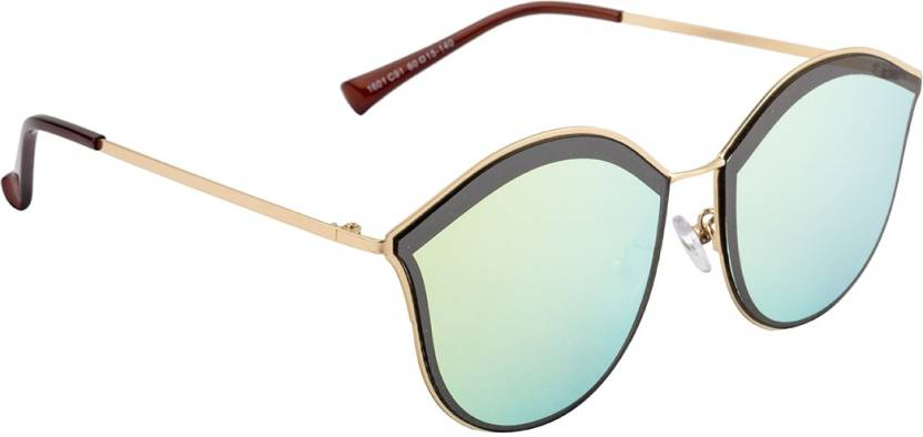 38fc27b1a3a Buy Farenheit Round Sunglasses Green For Women Online   Best Prices ...