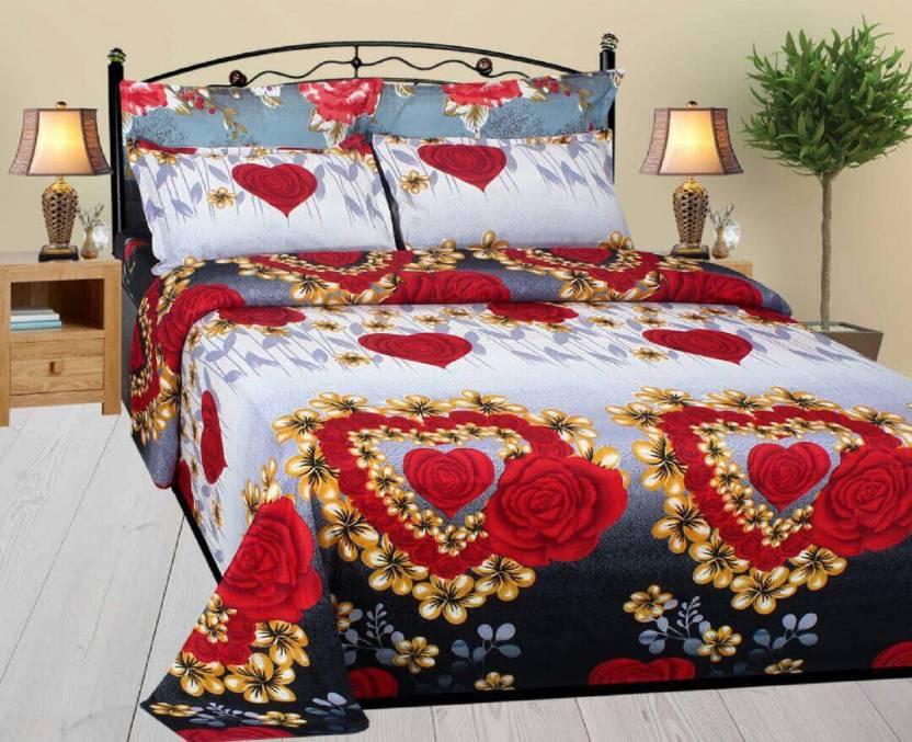 NATRAJ Cotton Floral Double Bedsheet Buy NATRAJ Cotton Floral