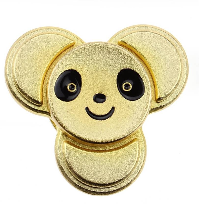 Spacerail Panda Face Metal Fidget Hand Spinner High Speed Tri Spinning Hand Stress Focus Toy with Silicon Nitride Ceramic Bearing