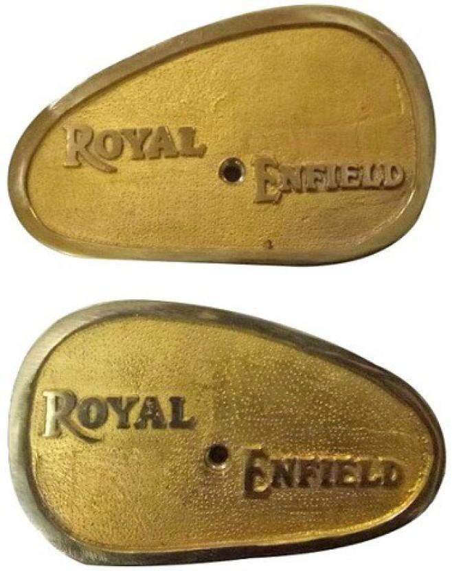 Petrol Gas Fuel Tank Badge Motif Set For Royal Enfield