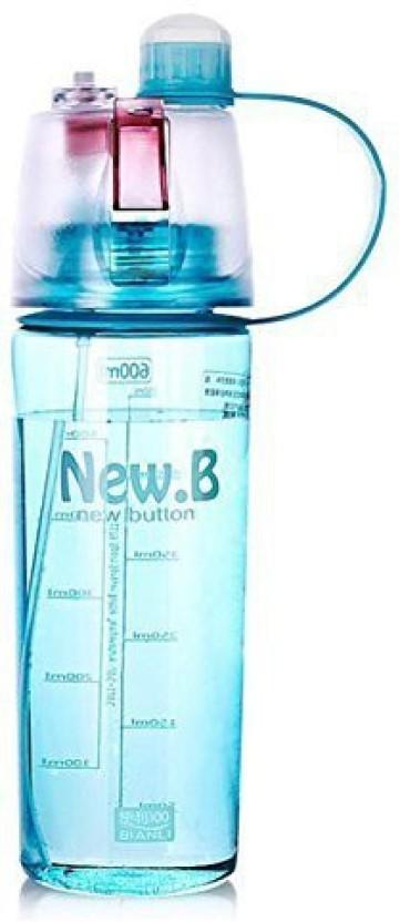 Portable Water Drinking Bottle Sports Plastic Spray Water Bottle School Bottle