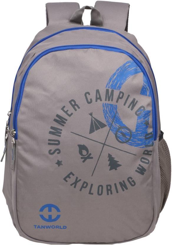 b620c43aeb Tanworld Holden Blue Economical Student Backpack - Stylish Lightweight  unisex College bag 24 L Backpack (Grey