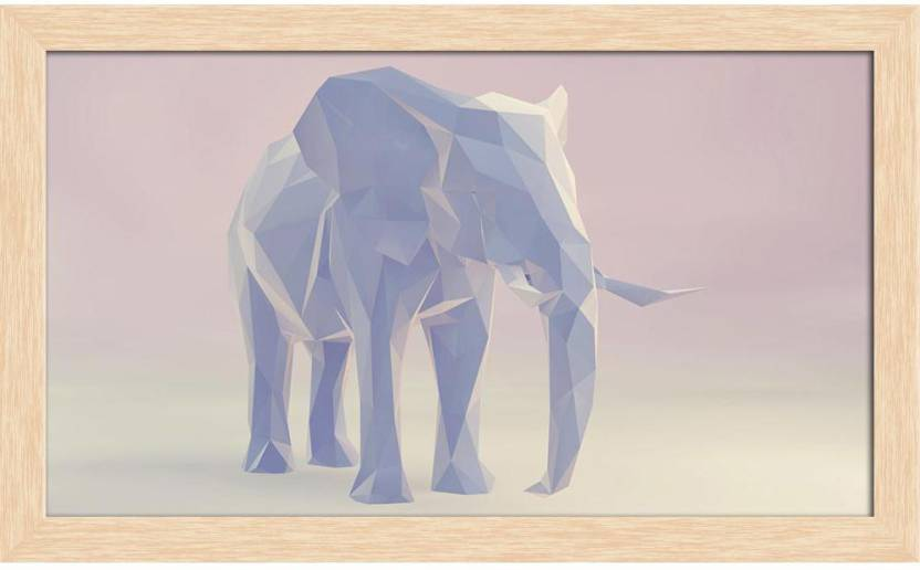 Artzfolio Abstract Elephant Framed Wall Art Painting Print