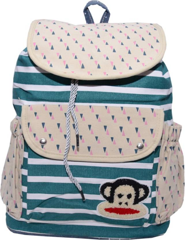 1441da7373 Ruff Multi Coloured School bag Printed Backpack Casual Style Women Backpack  Bags Double-Shoulder Sweet Stripe Canvas School Collage Travel Bag Girls ...