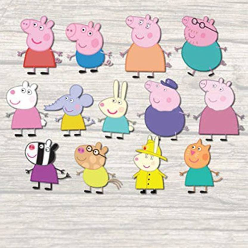 Party Propz Peppa Pig 10pcs Cutout Birthday Decoration Party