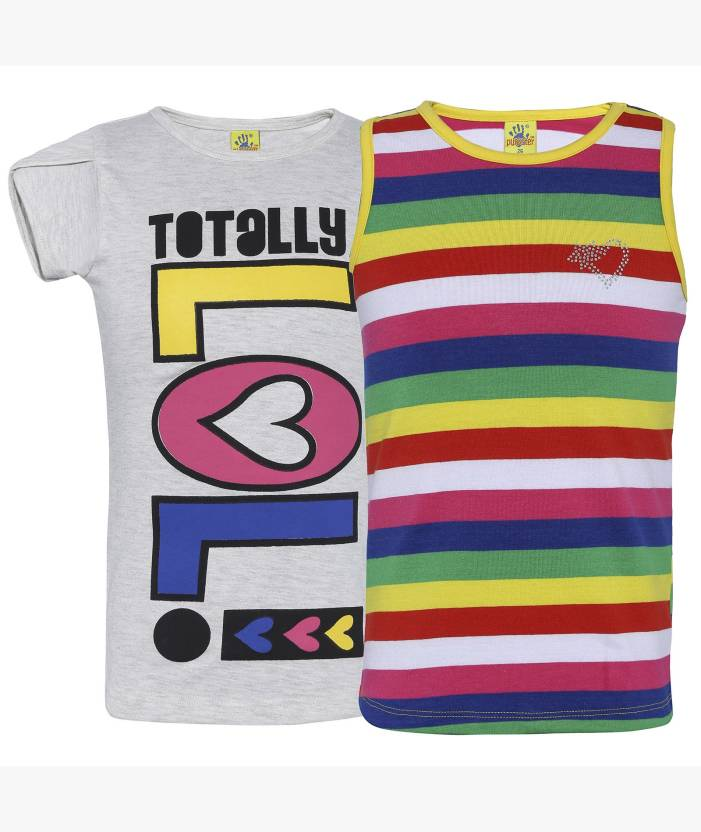 91db41ce973 Punkster Girls Casual Cotton Top Price in India - Buy Punkster Girls ...