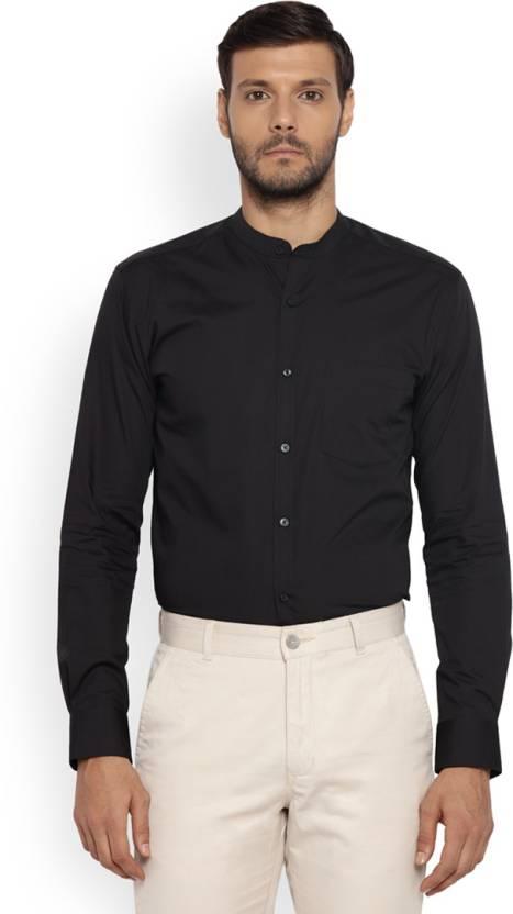 caf5cf1cf Park Avenue Men Solid Formal Mandarin Shirt - Buy Park Avenue Men ...