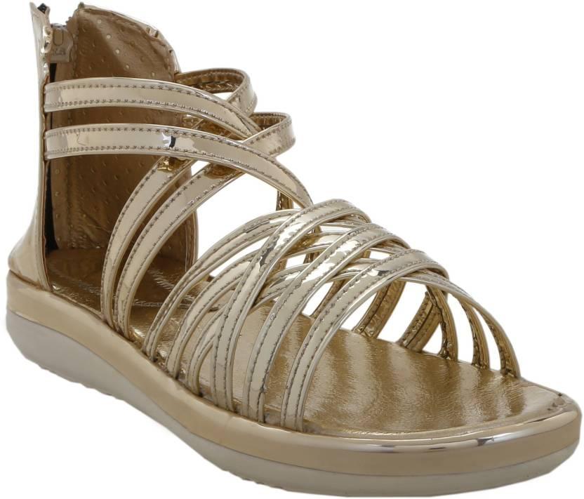 663bf06ba1a0 Zappy Women Golden Sandals - Buy Zappy Women Golden Sandals Online at Best  Price - Shop Online for Footwears in India