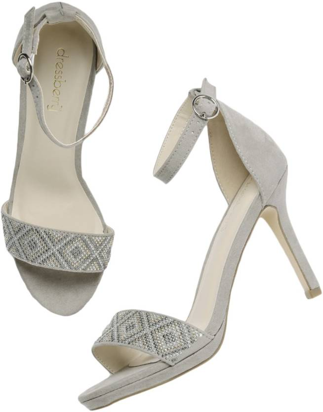 72c8f84873ea Dressberry Women Grey Heels - Buy Dressberry Women Grey Heels Online at  Best Price - Shop Online for Footwears in India