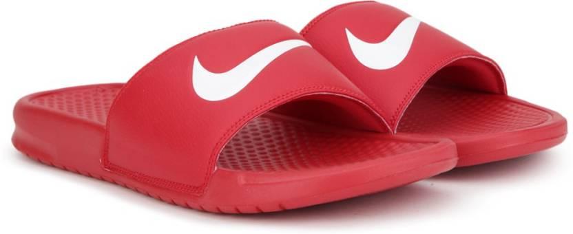 e52f518d278e Nike BENASSI SWOOSH Slides - Buy UNIVERSITY RED  WHITE Color Nike ...