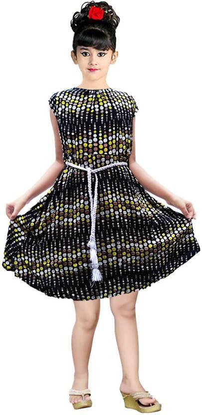 98cf596c619a AD & AV Girls Midi/Knee Length Casual Dress Price in India - Buy AD ...