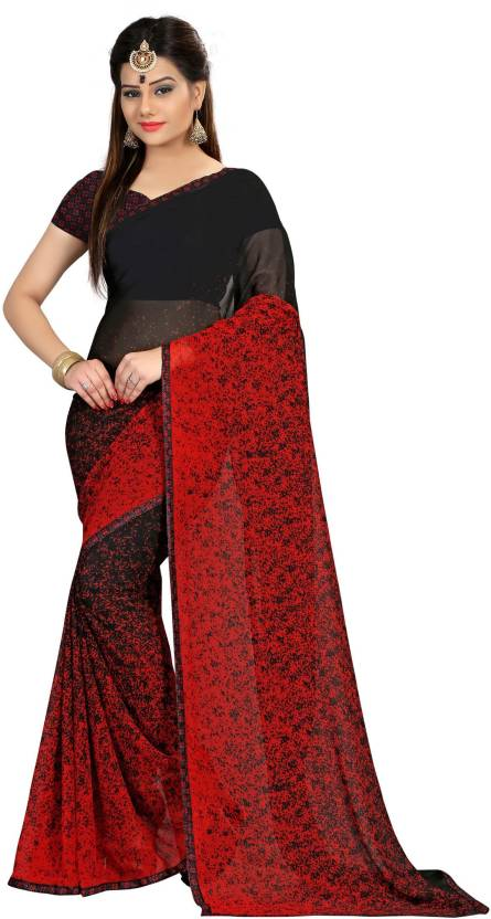 Divastri Self Design Fashion Georgette Saree  (Black)#OnlyOnFlipkart
