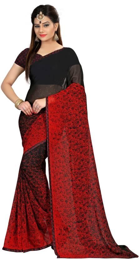 Divastri Self Design Fashion Georgette Saree(Black)#OnlyOnFlipkart