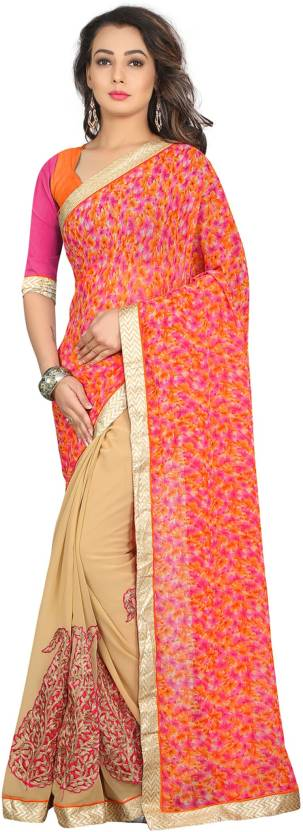 Divastri Embroidered Fashion Georgette Saree  (Multicolor)#OnlyOnFlipkart
