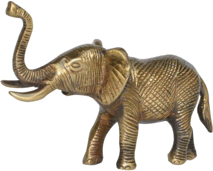 Aakrati Brass Trunk Up Elephant Statue Fengshui Gift Item Symbol Of