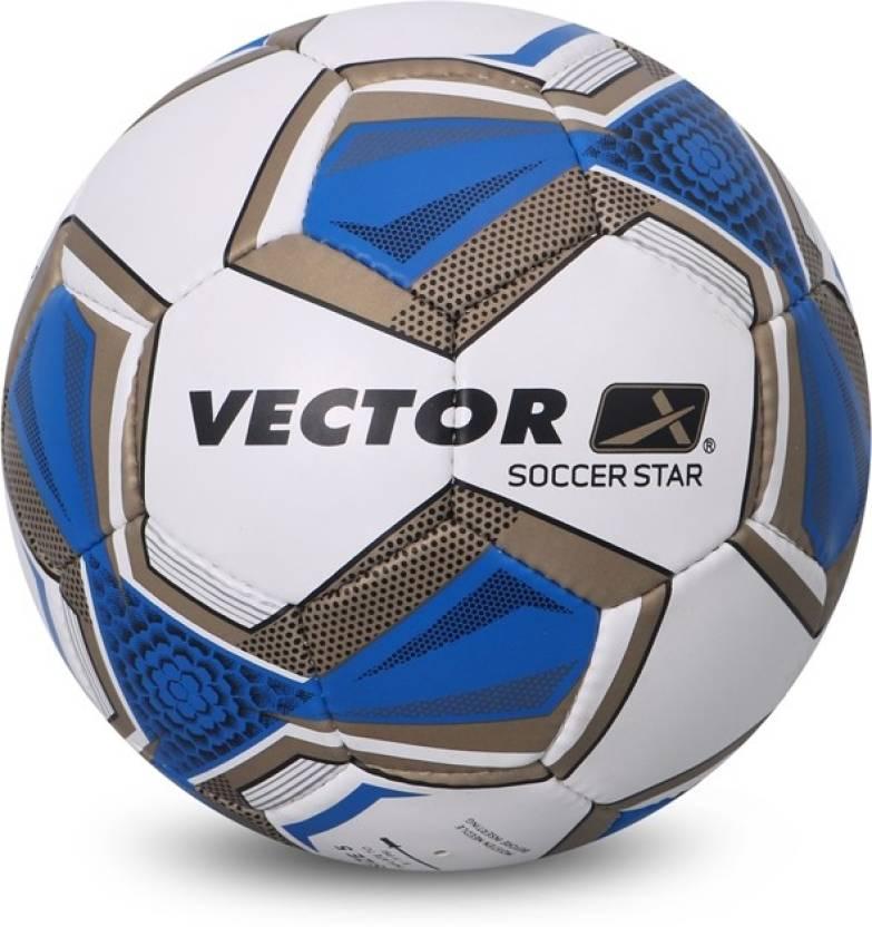 d0145cd0d9778 Vector X SOCCER-STAR-WHT-BLU-5 Football - Size  5 - Buy Vector X ...