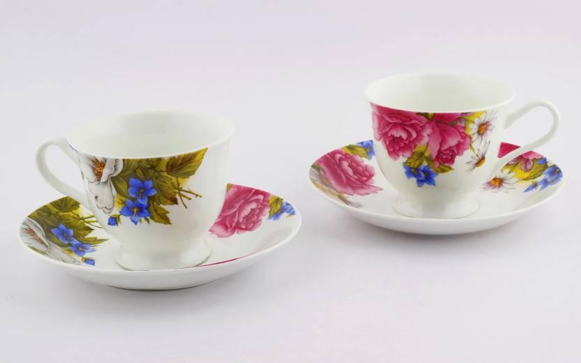 Swagger microwave safe dishwasher safe floral bone china tea