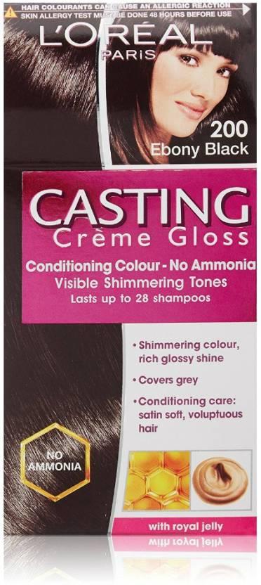 L Oreal Paris Casting Creme Gloss Hair Color Ebony Black 200