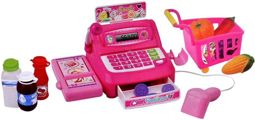 Toyshine Supermarket Shopping Cash Register Play Set, With