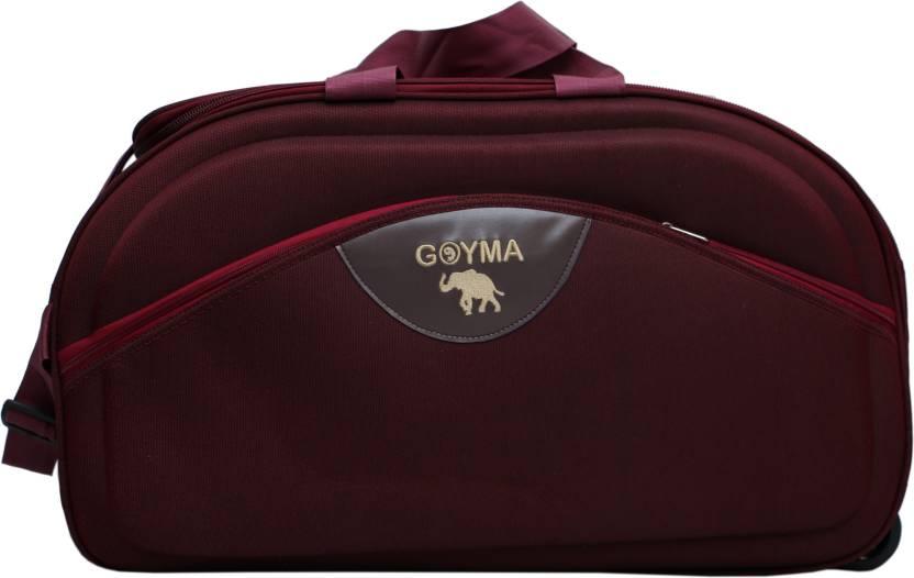 e4ef5ca76 GOYMA Canvas & Polyester 22 Inches Duffel Strolley Bag Maroon ...