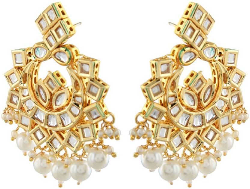 d9b6a887e7731 Flipkart.com - Buy The Divine Vault Golden Earrings Studdede With ...