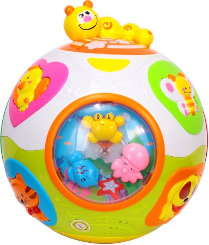 GoAppuGo Musical Learning Ball With Automatic Rotation Music Animals Sounds