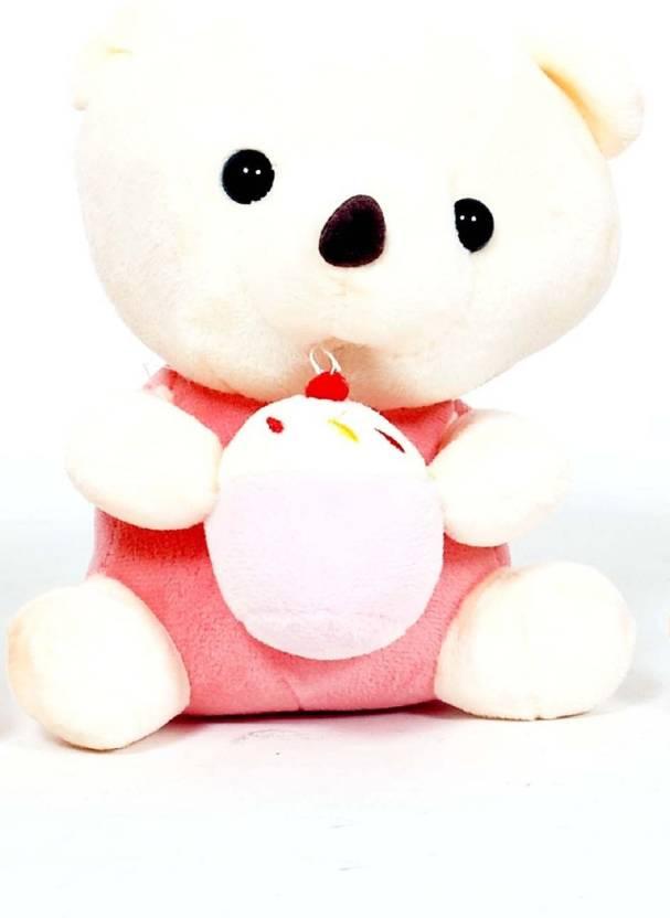 Skylofts 20cm Lovely Cute Soft Stuffed Teddy Bear With Birthday Cake Plush Gift