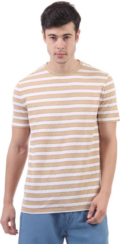200a51732f Nautica Striped Men's Round Neck Brown, White T-Shirt - Buy Nautica Striped  Men's Round Neck Brown, White T-Shirt Online at Best Prices in India |  Flipkart. ...