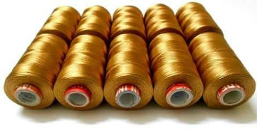 Am Am Silk Thread Desert Gold Shiny 10 Spools For Embroidery