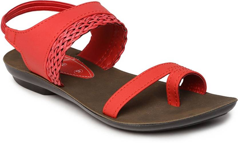 44312abda Paragon Women Red Sandals - Buy Paragon Women Red Sandals Online at Best  Price - Shop Online for Footwears in India
