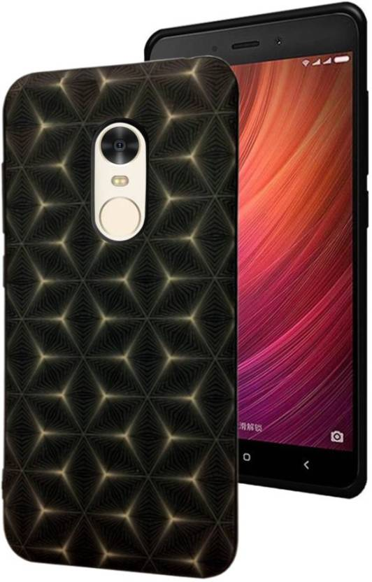 Spicesun Back Cover for Mi Redmi Note 4 Black, Silicon