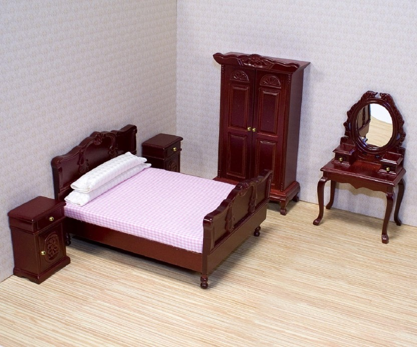 Melissa U0026 Doug Deluxe Doll House Bedroom Furniture