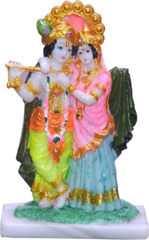 5feab9ce358 Vaah Marble Look Radha Krishna Murti Idol Decorative Showpiece - 14 cm  (Polyresin