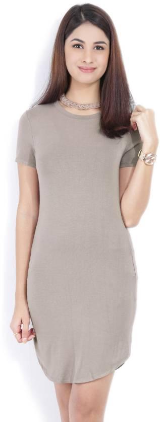49113d323ae9 Forever 21 Women A-line Grey Dress - Buy WALNUT Forever 21 Women A ...