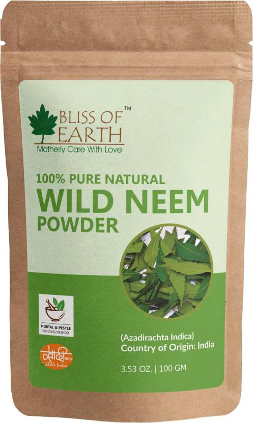 Bliss of Earth 100% Pure Wild Neem Leaves Powder Great For