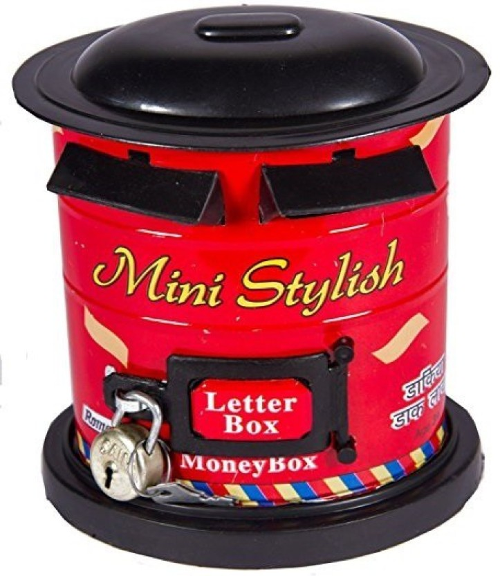 Aaryan Enterprise Post Box Metal Piggy Bank For Kids Coin Bank