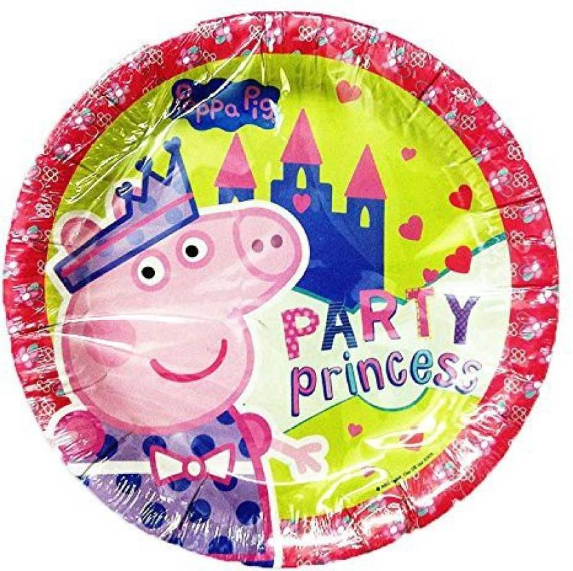 PARTY PROPZ PEPPA PIG BIRTHDAY DECORATION PAPER PLATE 10 PIECES SUPPLIES Dinner Plates Pack Of