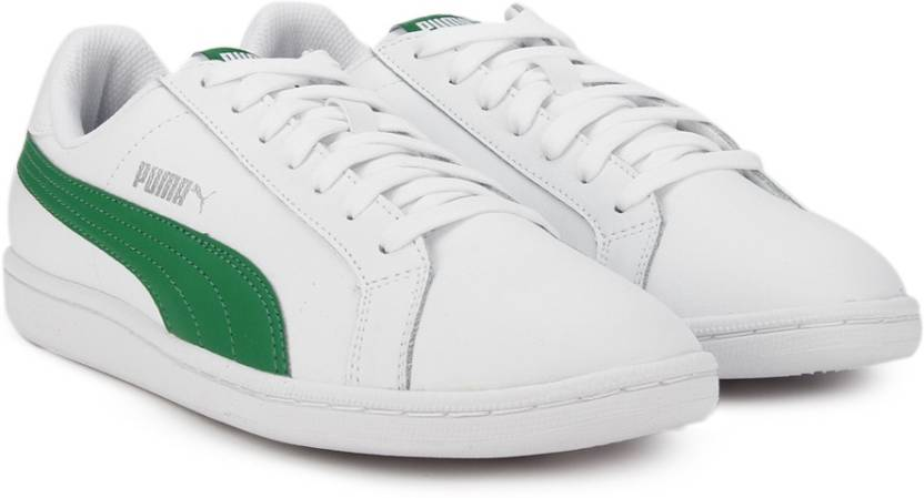 Puma Smash L Sneakers For Men - Buy Puma White-Amazon Green Color ... deebc8bcd