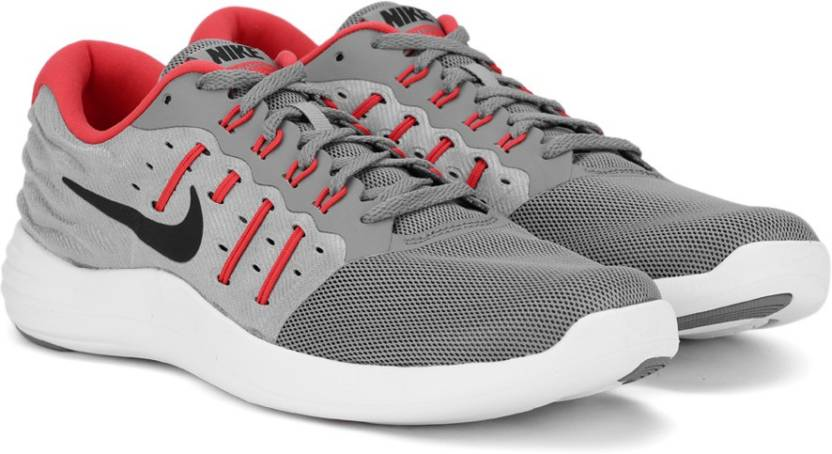 sale retailer 59bbc 31c0c Nike LUNARSTELOS Running Shoes For Men (Red, Black, Grey)