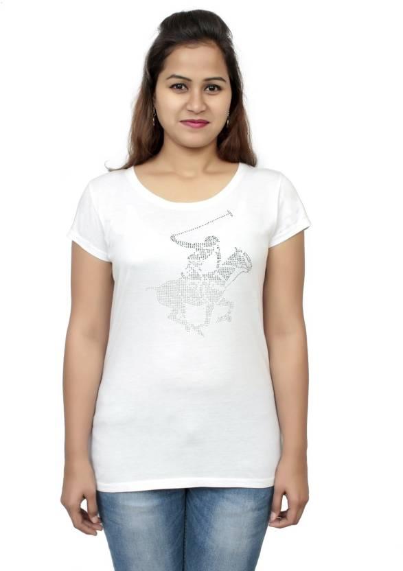 eabb1320b11 Hey It s Me Casual Short Sleeve Printed Women s White Top - Buy Hey It s Me  Casual Short Sleeve Printed Women s White Top Online at Best Prices in India  ...