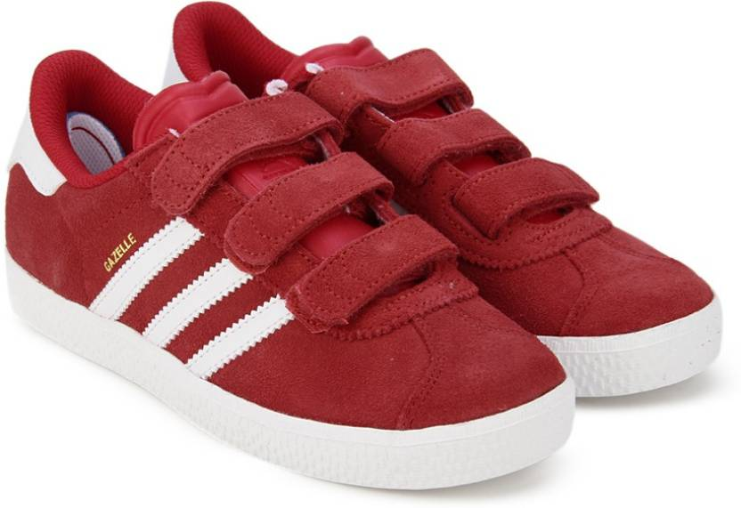 brand new b55ce 071ed ADIDAS ORIGINALS Boys  Girls Velcro Sneakers (Red)