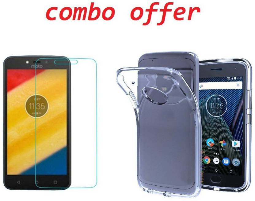 552d23c3abe8 rs mobizilla Cover Accessory Combo for Motorola Moto C Plus (Transparent)